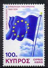 Cyprus 1975 25th Anniversary of Council of Europe unmounted mint, SG 442*