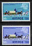 Cyprus 1975 Centenary of UPU set of 2 unmounted mint, SG 439-40*
