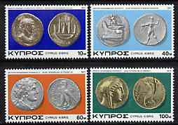Cyprus 1977 Ancient Coins of Cyprus #2 set of 4, SG 486-89*