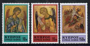 Cyprus 1976 Christmas set of 3 unmounted mint, SG 478-80*