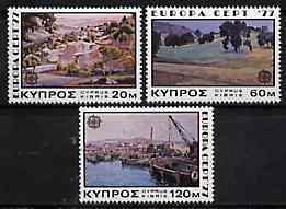 Cyprus 1977 Europa (Paintings) set of 3, SG 482-84 unmounted mint*