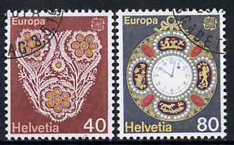 Switzerland 1976 Europa - Handicrafts set of 3 superb cto used, SG 913-14*