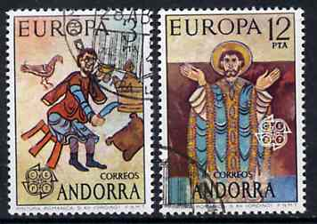 Andorra - Spanish 1975 Europa (Paintings) set of 2 superb cto used, SG 92-93*