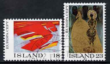 Iceland 1975 Europa (Paintings) set of 2 superb cto used, SG 533-34*
