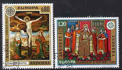 Andorra - French 1975 Europa (Paintings) set of 2 superb cto used, SG F 262-63