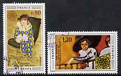 France 1975 Europa (Paintings) set of 2 superb cto used, SG 2077-78*
