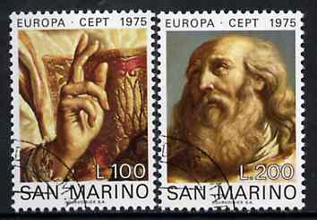 San Marino 1975 Europa (Details from St Marinus) set of 2 superb cto used, SG 1023-24*