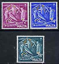 Malta 1964 Christmas set of 3 unmounted mint, SG 327-29*