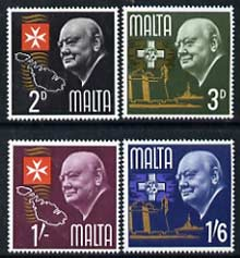 Malta 1965 Churchill Commemoration set of 4 unmounted mint, SG 362-65*