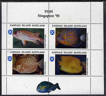 Easdale 1995 'Singapore 95' Stamp Exhibition (Fish) sheetlet containing perf set of 4 unmounted mint