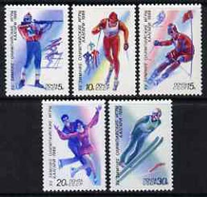 Russia 1988 Calgary Winter Olympic Games set of 5 unmounted mint, SG 5830-34, Mi 5788-92*