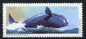 Brazil 1987 Endangered Animals - Right Whale unmounted mint, SG 2275*