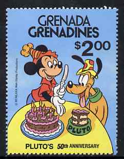 Grenada - Grenadines 1981 50th Anniversary of Walt Disneys Pluto $2 unmounted mint, SG 432*
