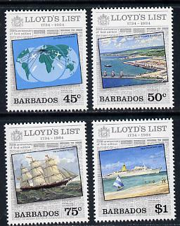 Barbados 1984 Lloyds List set of 4 unmounted mint SG 750-3