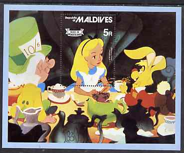 Maldive Islands 1980 Alice in Wonderland m/sheet unmounted mint, SG MS 908