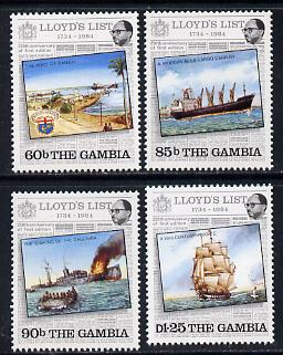 Gambia 1984 Lloyds List  set of 4 unmounted mint, SG 549-52