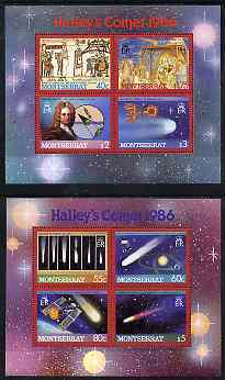 Montserrat 1986 Halley's Comet perf set of 2 m/sheets unmounted mint, SG MS 690