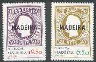 Portugal - Madeira 1980 112th Anniversary of First Overprinted Stamps set of 2, SG 169-70 unmounted mint*