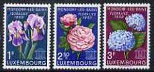 Luxembourg 1959 Flower Show set of 3 unmounted mint, SG 656-58*