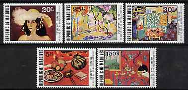 Maldive Islands 1979 Death Anniversary of Henri Matisse set of 5 unmounted mint, SG 817-21*