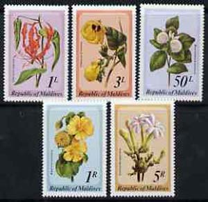 Maldive Islands 1979 Flowers set of 5, SG 827-31*