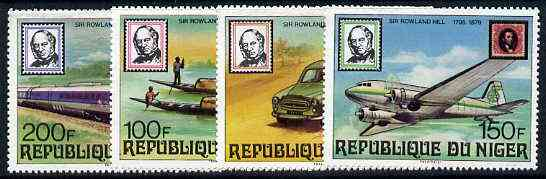 Niger Republic 1979 Rowland Hill (Mail Transport) Perf set of 4 unmounted mint, SG 764-67*