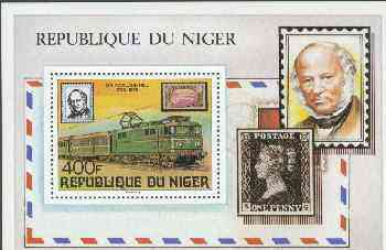 Niger Republic 1979 Rowland Hill (Electric Loco) Perf m/sheet, unmounted mint SG MS 768