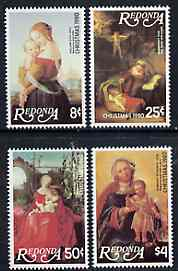Antigua - Redonda 1980 Christmas (Paintings) Perf set of 4 unmounted mint*