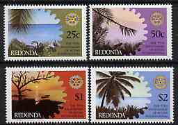 Antigua - Redonda 1980 75th Anniversary of Rotary International Perf set of 4 unmounted mint*