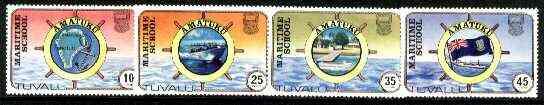 Tuvalu 1982 Maritime School perf set of 4, SG 180-83 unmounted mint*