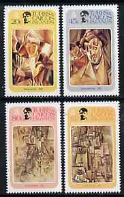 Turks & Caicos Islands 1981 Birth Centenary of Picasso Perf set of 4 unmounted mint, SG 648-51*