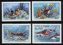 Turks & Caicos Islands 1981 Diving Perf set of 4 unmounted mint, SG 660-63*