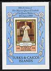 Turks & Caicos Islands 1980 Queen Mother's 80th B'day m/sheet unmounted mint, SG MS 608