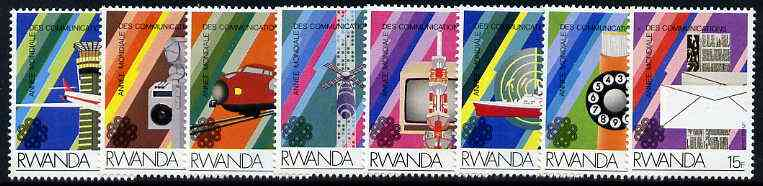 Rwanda 1984 Communications set of 8, SG 1186-93*