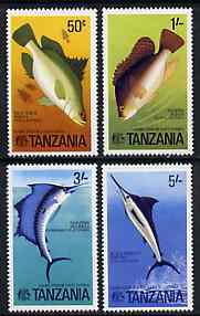 Tanzania 1977 Game Fish of East Africa set of 4 unmounted mint, SG 192-95*