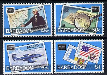 Barbados 1986 Ameripex Stamp Exhibition set of 4 unmounted mint SG 817-20