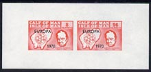 Calf of Man 1970 Europa opt'd on Churchill & Map imperf m/sheet (8m & 96m red) (Rosen CA186MS) unmounted mint