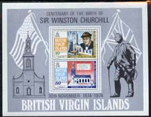 British Virgin Islands 1974 Birth Centenary of Sir Winston Churchill m/sheet unmounted mint, SG MS 324