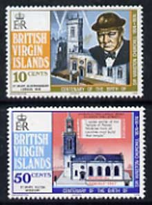 British Virgin Islands 1974 Birth Centenary of Sir Winston Churchill set of 2, SG 322-23 unmounted mint