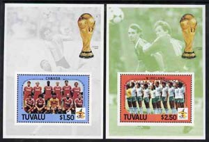 Tuvalu 1986 Football World Cup perf set of 2 m/sheets unmounted mint SG MS 396
