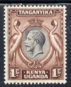 Kenya, Uganda & Tanganyika 1935 Crowned Cranes KG5 1c black & red-brown unmounted mint SG 110*