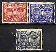 Australia 1945 Arrival of Duke & Duchess of Gloucester unmounted mint set of 3, SG 209-11