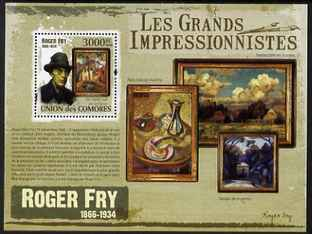 Comoro Islands 2009 Impressionists - Roger Fry perf s/sheet unmounted mint