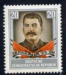 Germany - East 1954 First Anniversary of Death of Stalin unmounted mint, SG E179*