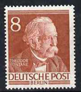 Germany - West Berlin 1952-54 Fontane (Writer) 8pf from Famous Berliners set unmounted mint, SG  B94