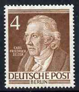 Germany - West Berlin 1952-54 Zelter (Musician) 4pf from Famous Berliners set unmounted mint, SG  B91
