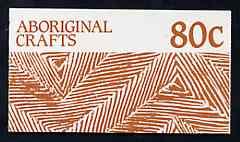 Booklet - Australia 1987 Aboriginal Crafts 80c booklet complete (SG SB57)
