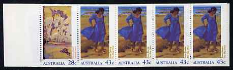 Booklet - Australia 1990 Heidelberg & Heritage $2 booklet complete containing pane SG 1269a (imperf x P14.5) SG SB72