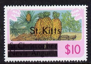 St Kitts 1980 Pineaples & Peanuts $10 from opt
