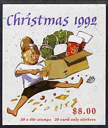 Booklet - Australia 1992 Christmas $7.60 booklet complete and pristine, SG SB79